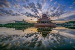 Putra Mosque, Putrajaya, Malaysia I. The Putra Mosque, in Putrajaya, Malaysia in the morning hours Royalty Free Stock Photo