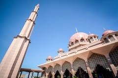 Putra Mosque, Putrajaya, Malaysia. PUTRAJAYA, MALAYSIA, MAY 25, 2015 : Putra Mosque (Masjid Putra) is the principal mosque of Putrajaya, Malaysia. Construction Stock Image