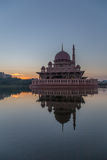 Putra Mosque, Putrajaya. Sunrise at Putra Mosque Putrajaya Malaysia Royalty Free Stock Photo