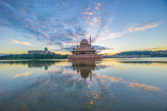 Putra Mosque, Putrajaya. Sunrise at one of the famous Putrajaya landmark Stock Image