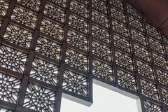 Putra Mosque with rain in Wilayah Persekutuan Putrajaya, Malaysia Stock Photography