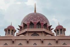 Putra Mosque with rain in Wilayah Persekutuan Putrajaya, Malaysia Royalty Free Stock Image