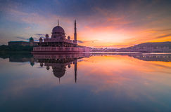 Putra mosque reflection Stock Photography