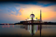 Putra mosque. During sunrise, Malaysia Royalty Free Stock Photography