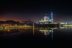 Putra Mosque during sunrise in putrajaya Royalty Free Stock Photo