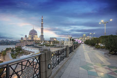 Putra Mosque at Sunset Stock Photography