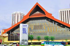 Putra world trade centre. The picture shows the main roof of the PWTC hall which houses important international and domestic conferences in Malaysia Royalty Free Stock Images