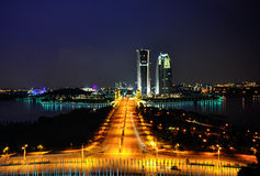 Putrajaya在晚上 库存照片