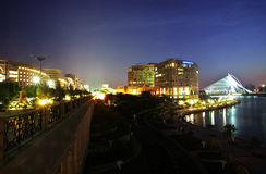 Putrajaya. A night view of skyline of Putrajaya royalty free stock images
