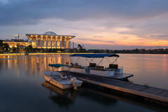 湖putrajaya 免版税库存图片