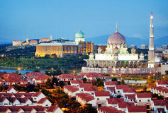 Putrajaya. Skyline of Malaysia's administrative capital of Putrajaya, 2004 royalty free stock images