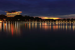 Putrajaya Bridge At Dawn Stock Photos