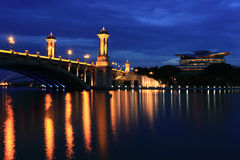 Putrajaya Bridge at Dawn Stock Images