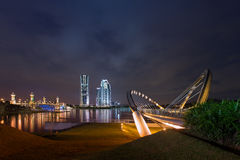 Putrajaya Bridge at Dawn Royalty Free Stock Photography