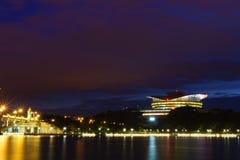 Putrajaya International Convention Centre (PICC) and Seri Gemilang Bridge Royalty Free Stock Photo