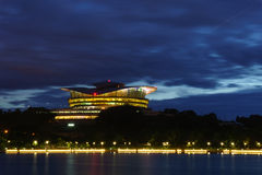 Putrajaya International Convention Centre (PICC) and Seri Gemilang Bridge Stock Images