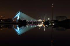 Putrajaya bridge lake relfection Royalty Free Stock Photo