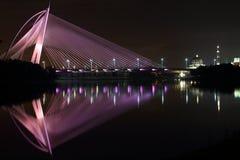 Putrajaya bridge lake relfection Stock Photography