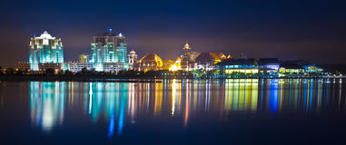 Putrajaya Cityscape Skyline Night View. A view of Putrajaya at night Stock Images