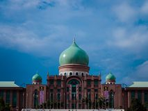 Putrajaya Country Hall of Malaysia. One of Main Buildings in Malaysia. The place where all the action happens in the Malaysian goverment Stock Images