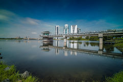 Putrajaya Dam at daylight. Putrajaya dam near the government city of malaysia asia Royalty Free Stock Images
