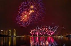Putrajaya-Feuerwerk lizenzfreies stockbild