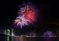 Putrajaya-Feuerwerk stockfotografie