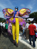 Putrajaya FLORIA Festival 2010. PUTRAJAYA, MALAYSIA-10 JULY : Crown on stilt at floria festival, an event showcasing local and international horticulture royalty free stock images