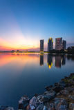 Putrajaya iconic byggnader Fotografering för Bildbyråer