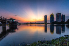 Putrajaya iconic byggnader Arkivbild