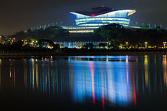 Putrajaya International Convention Centre. Building at night Royalty Free Stock Images
