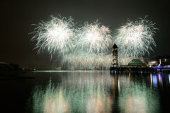 Putrajaya International Fireworks Competition 2013 Stock Photo