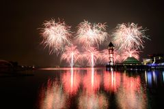 Putrajaya International Fireworks Competition 2013 Royalty Free Stock Photography