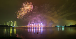 Putrajaya International Fireworks Competition 2013 Royalty Free Stock Image