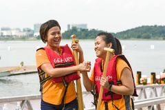 Putrajaya, Kuala Lumpur, festival de barco de dragón fotografía de archivo libre de regalías