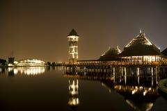 Putrajaya Lakeside at Night royalty free stock image