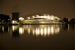 Putrajaya Lakeside Pavillion at Night Stock Image