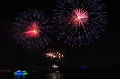 Putrajaya magia noc fajerwerki Zdjęcie Stock