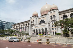 Putrajaya, Malaysia - circa September 2015: Istana Kehakiman or Federal Court of Malaysia and Ministry of Justice in  Putrajaya Royalty Free Stock Images