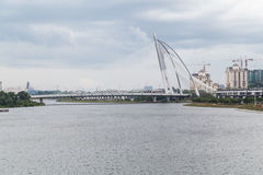 Putrajaya, Malaysia - circa September 2015: Seri Wawasan Bridge in Putrajaya at day  time Stock Photo