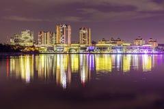 Putrajaya, Malaysia die Nachtphotographie lizenzfreies stockbild