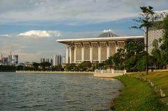 Putrajaya, malaysia. Iron mosque putrajaya, malaysia view from lake Royalty Free Stock Image