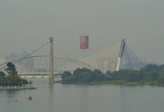 5. Internationale Heißluft-Ballon-Fiesta 2013 Putrajayas stockbilder