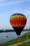 Putrajaya, Malaysia - 12. März 2015: 7. internationaler Heißluft-Ballon Fiesa Putrajayas in Putrajaya, Malaysia Lizenzfreie Stockbilder