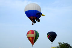 Putrajaya, Malaysia - 12. März 2015: 7. internationaler Heißluft-Ballon Fiesa Putrajayas in Putrajaya, Malaysia Stockbild