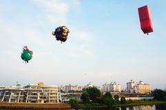 quinti Festa 2013 del pallone di aria calda di Putrajaya Immagine Stock Libera da Diritti