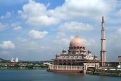 Putrajaya Mosque. At Kuala Lampur Royalty Free Stock Photo