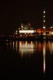 Putrajaya Mosque. At night time royalty free stock image