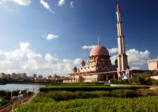 Putrajaya mosque Royalty Free Stock Photography