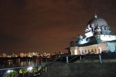 Putrajaya mosque. A night scene of putrajaya mosque Royalty Free Stock Image